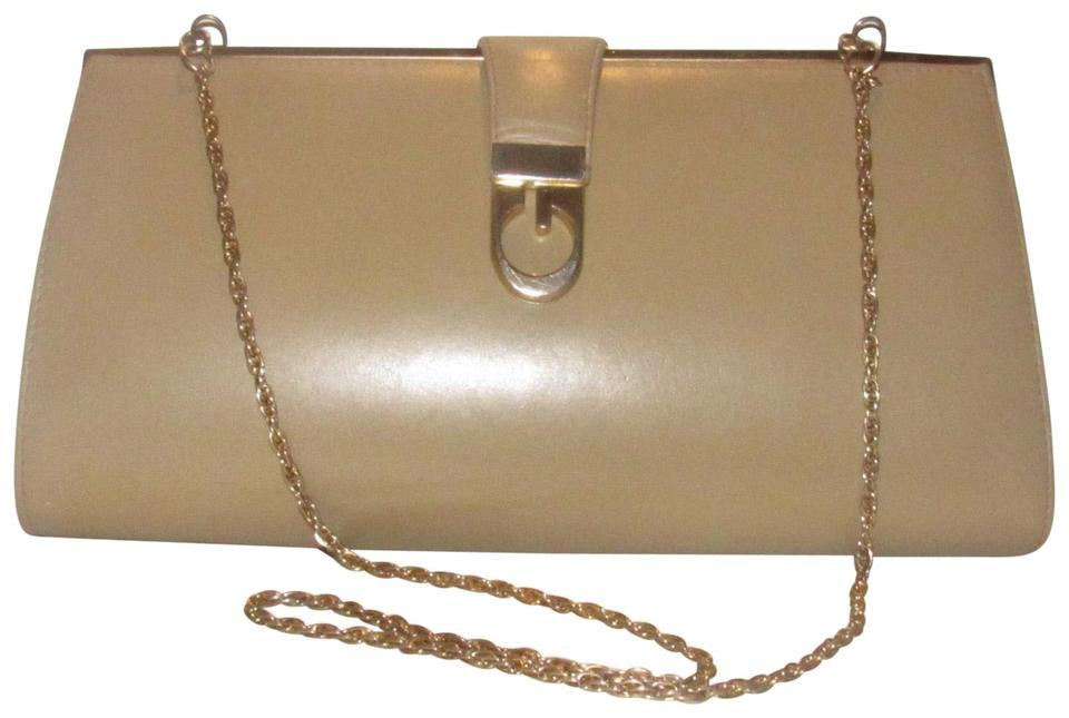3ce87f01c12b07 Gucci Mint Vintage Two-way Style Leather/Gold Hard Boxy Style Early 60's  camel ...