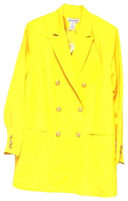 Item - Yellow Double Breasted Linen Blend Blazer Size OS