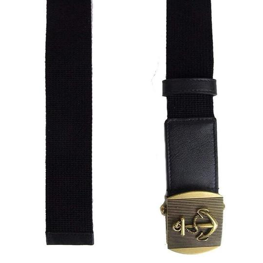 cd95e2d2e Gucci Navy Blue Fabric Brass Anchor Buckle Belt 375191 4009(80 / 32)  Groomsman