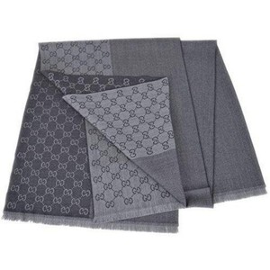 Gucci Gray Unisex Wool Lana Scarf with Tag (One Size) Groomsman Gift