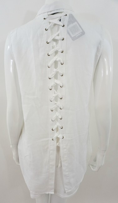 DL 1961 Lace Up Top White Image 1