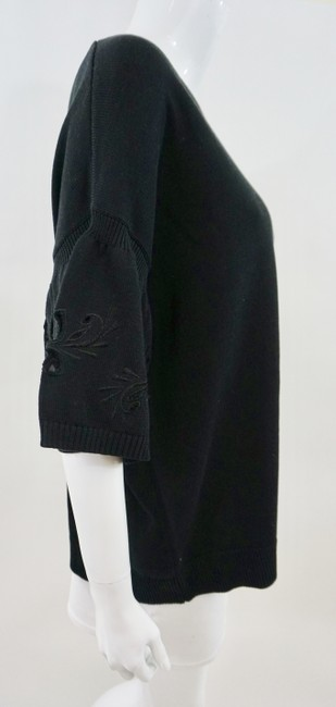 Chinti & Parker Cut Out Flower Top Black Image 3