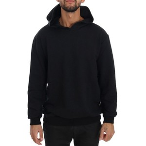 Black D1503-1 Gym Casual Hooded Cotton Sweater (Large) Groomsman Gift