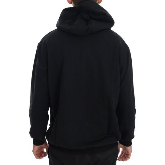 Black D1503-1 Gym Casual Hooded Cotton Sweater (Large) Groomsman Gift Image 2