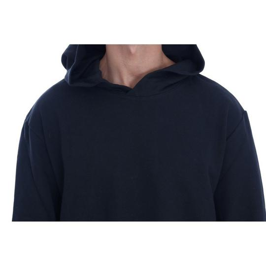 Black D1503-1 Gym Casual Hooded Cotton Sweater (Large) Groomsman Gift Image 3