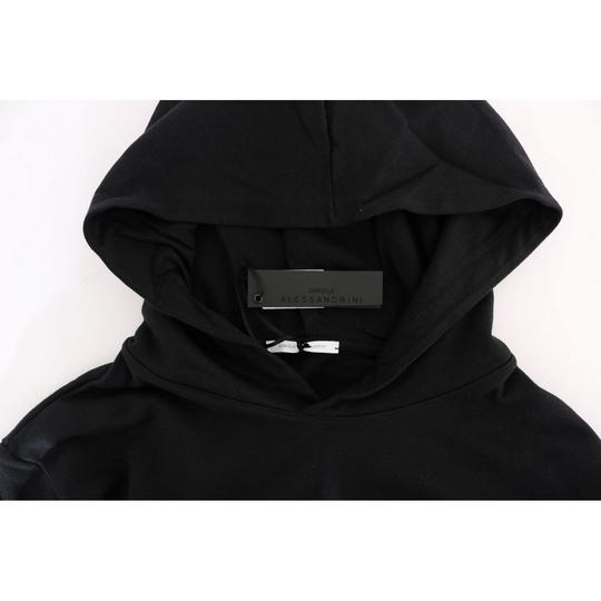 Black D1503-1 Gym Casual Hooded Cotton Sweater (Large) Groomsman Gift Image 4