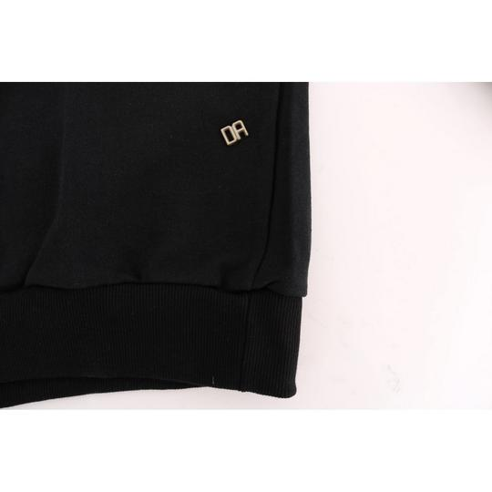 Black D1503-1 Gym Casual Hooded Cotton Sweater (Large) Groomsman Gift Image 5