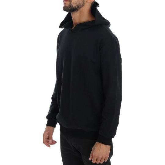 Black D1503-2 Gym Casual Hooded Cotton Sweater (Medium) Groomsman Gift Image 1