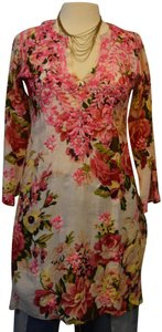 Amaya short dress Floral Embroidered Tunic on Tradesy