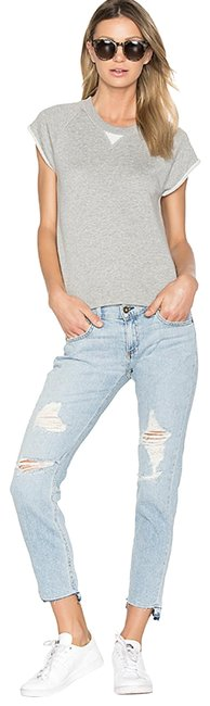 Rag & Bone Destroyed Distressed Boyfriend Capri/Cropped Denim-Distressed Image 0