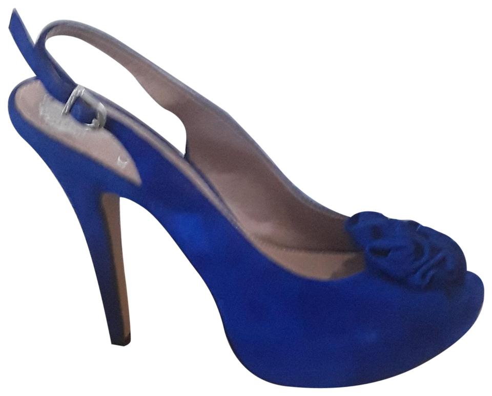 35d1756ab Vince Camuto Cobalt Suede Vc-motion True Pumps Size US 7 Regular (M ...