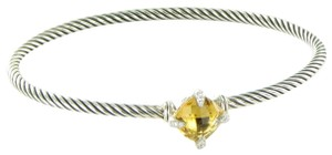 David Yurman Chatelaine Bracelet 9mm Citrine Diamond Sterling Silver