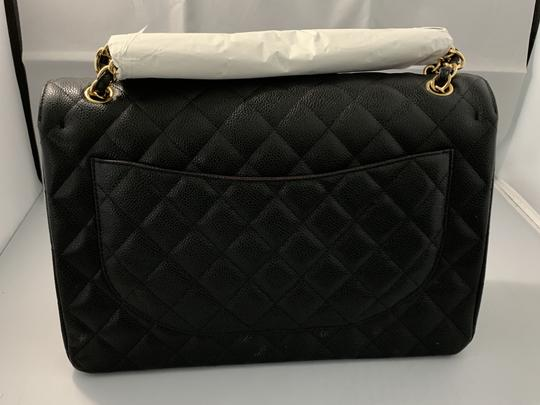 Chanel Quilted Maxi Satchel in Black Image 1