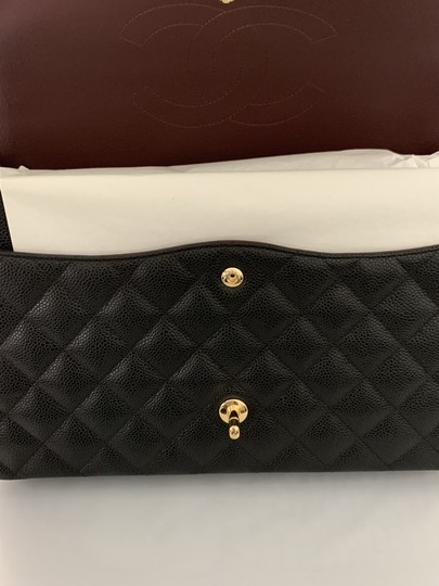 Chanel Quilted Maxi Satchel in Black Image 4