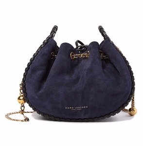 Marc Jacobs Cosmo Suede Leather Snake Embossed Sway Cross Body Bag