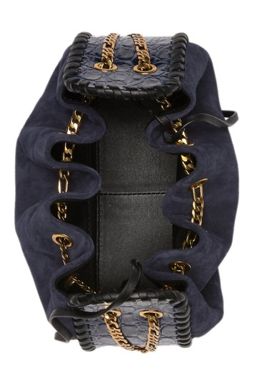 Marc Jacobs Cosmo Suede Leather Snake Embossed Sway Cross Body Bag Image 1