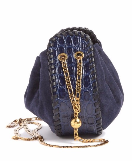 Marc Jacobs Cosmo Suede Leather Snake Embossed Sway Cross Body Bag Image 2