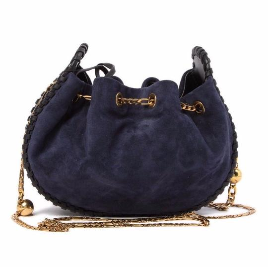 Marc Jacobs Cosmo Suede Leather Snake Embossed Sway Cross Body Bag Image 3