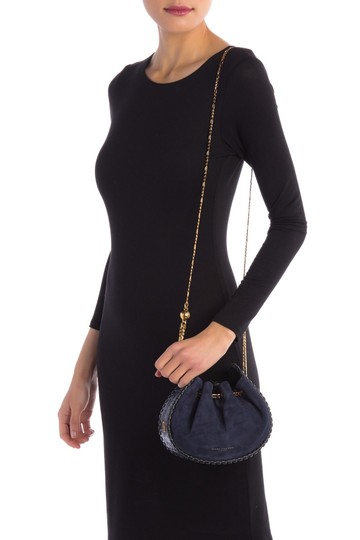 Marc Jacobs Cosmo Suede Leather Snake Embossed Sway Cross Body Bag Image 4