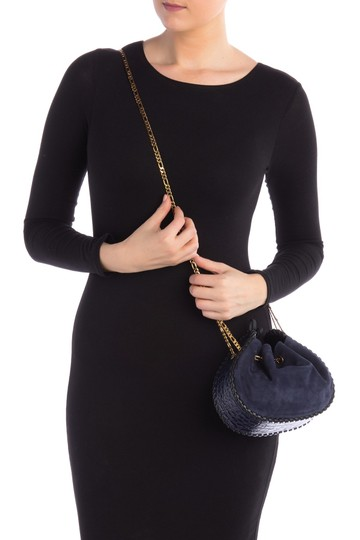 Marc Jacobs Cosmo Suede Leather Snake Embossed Sway Cross Body Bag Image 5