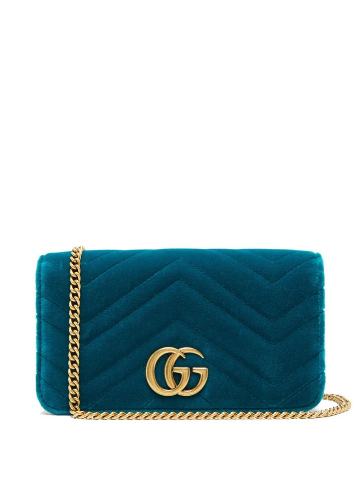 45d5f84a5f2 Gucci Marmont Gg Velvet Mini Cross Body Bag - Tradesy