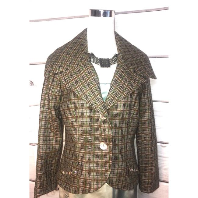 Preload https://img-static.tradesy.com/item/24562046/nicole-miller-wool-tweed-embellished-blazer-size-10-m-0-0-650-650.jpg