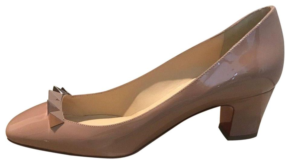 new products 2fb13 d8c46 Christian Louboutin Nude/ Gold Rose Pyramidame 45mm Patent Leather Pumps  Size US 8.5 Regular (M, B) 35% off retail