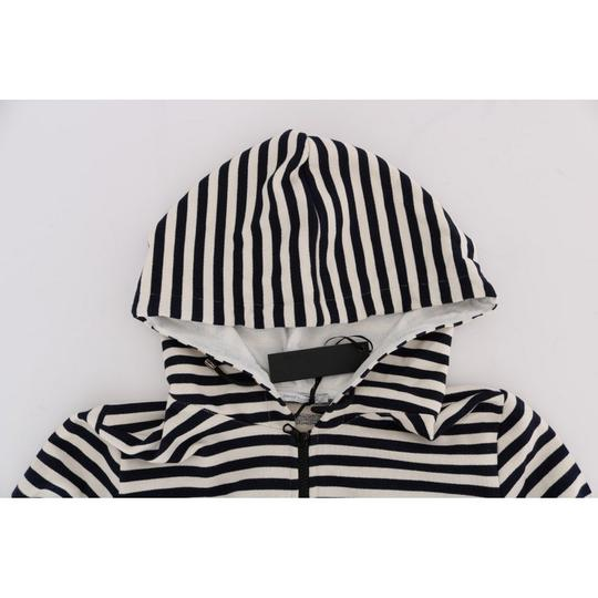 White / Blue D1339-4 Striped Hooded Cotton Sweater (Xl) Groomsman Gift Image 4