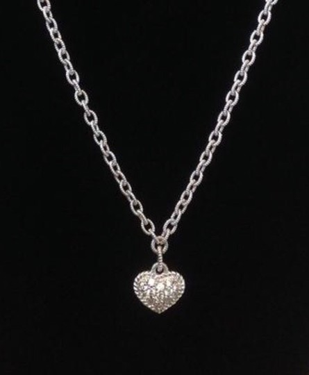 Judith Ripka Diamonique Pave Heart Necklace Image 2