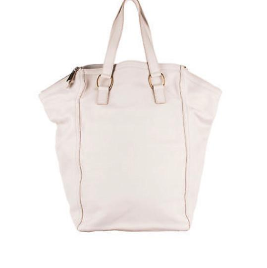Saint Laurent Tote in Ivory Image 2