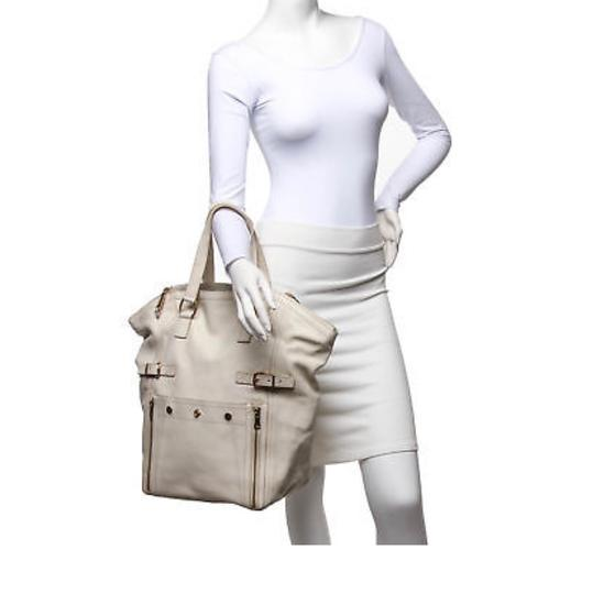Saint Laurent Tote in Ivory Image 7