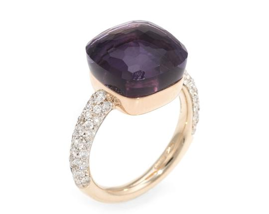 Pomellato Nudo Maxi Amethyst and Diamond 18K Rose Gold Ring Image 0