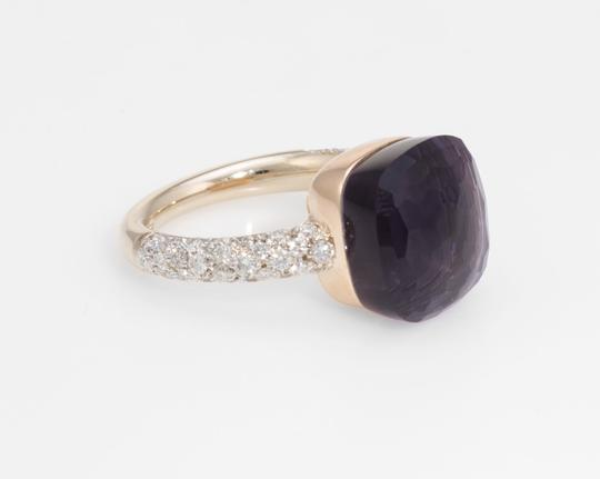 Pomellato Nudo Maxi Amethyst and Diamond 18K Rose Gold Ring Image 1
