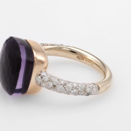 Pomellato Nudo Maxi Amethyst and Diamond 18K Rose Gold Ring Image 2