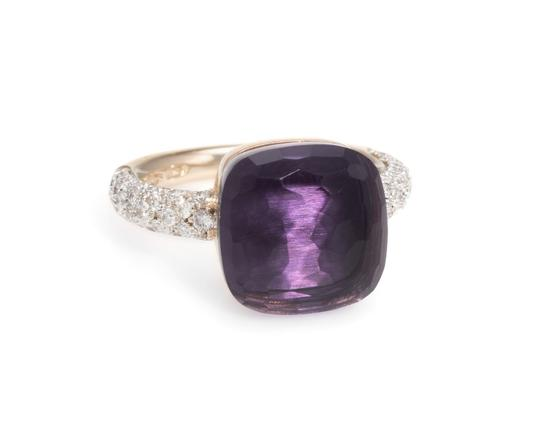 Pomellato Nudo Maxi Amethyst and Diamond 18K Rose Gold Ring Image 3