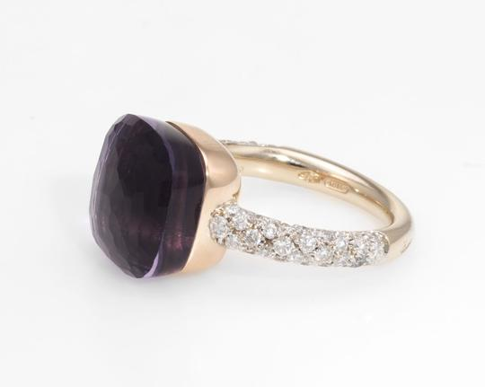 Pomellato Nudo Maxi Amethyst and Diamond 18K Rose Gold Ring Image 4