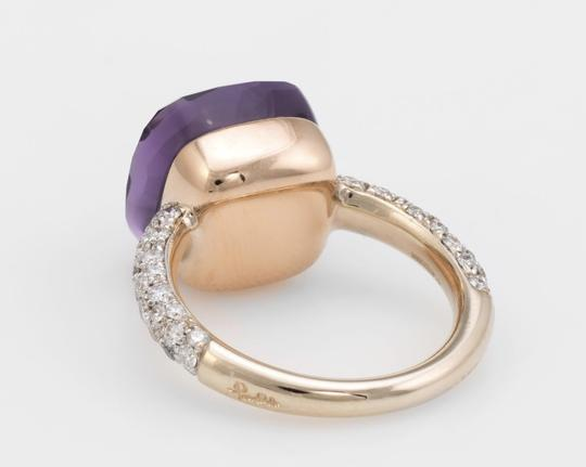 Pomellato Nudo Maxi Amethyst and Diamond 18K Rose Gold Ring Image 5