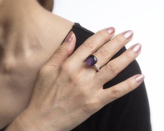 Pomellato Nudo Maxi Amethyst and Diamond 18K Rose Gold Ring Image 6