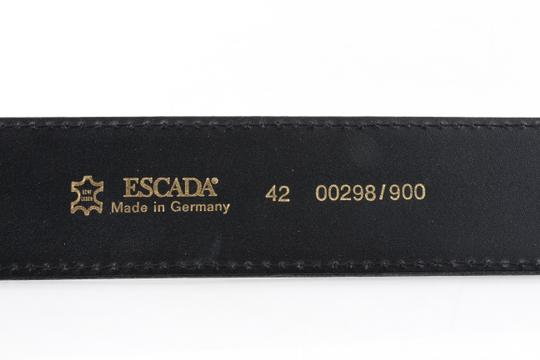 Escada Escada Vintage Belt Patent Leather Gold Enamel Leopard Image 7
