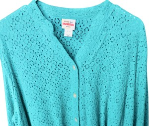 Ruby Rd. Light Sophisticated Top Teal