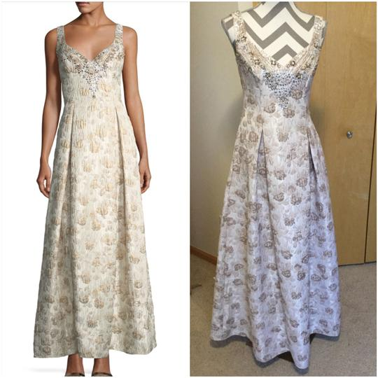 Preload https://img-static.tradesy.com/item/24562312/aidan-mattox-ivory-polyester-metalic-jacquard-ball-gown-feminine-bridesmaidmob-dress-size-2-xs-0-0-540-540.jpg