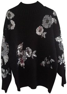 bc1f6f5d Zara Floral with Sequins 6206/100 Black Sweater - Tradesy