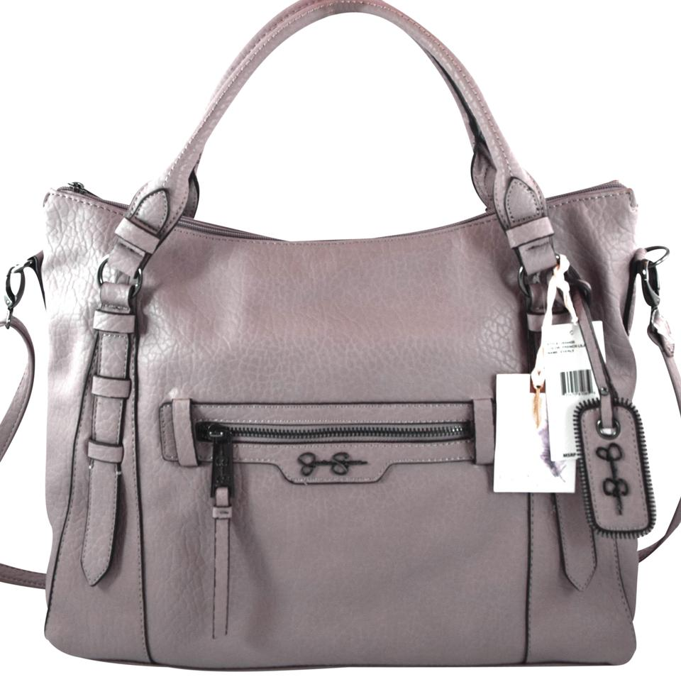 6ac1d2a732b Jessica Simpson Everly Purple French Lilac Faux Leather Tote