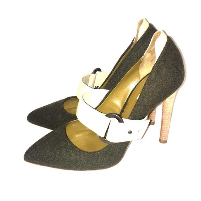Item - Army Green Clothe Pumps Size EU 38 (Approx. US 8) Narrow (Aa, N)