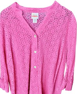 Ruby Rd. Winter Spring Summer Fall Gift Top Pink