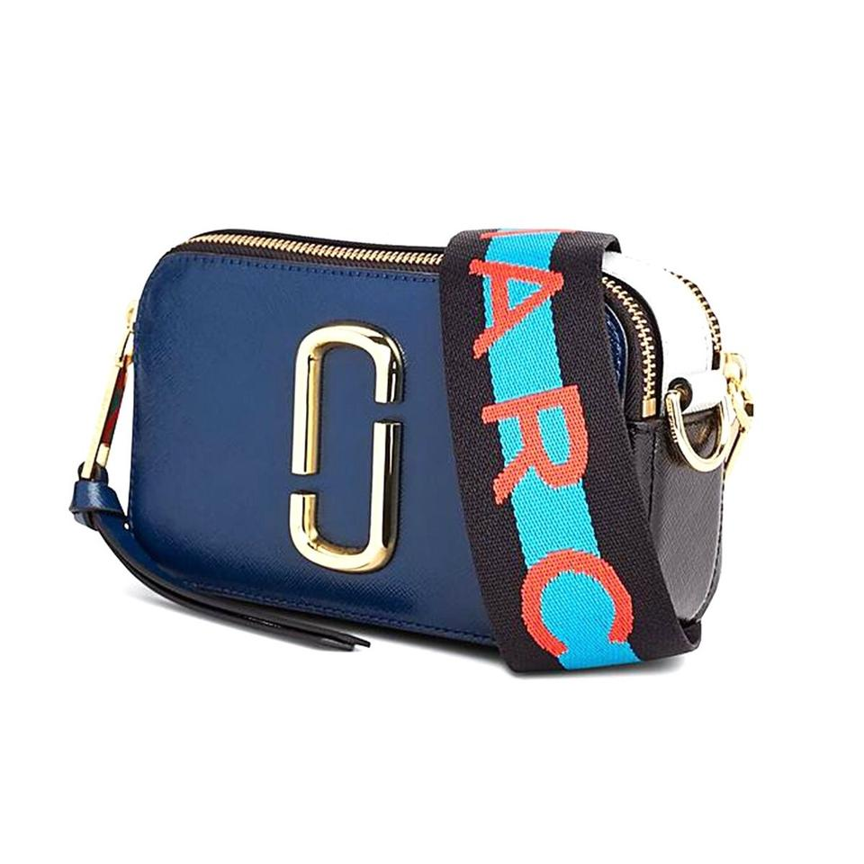 7b3383aa2 Marc Jacobs Camera Snapshot Coated Blue Sea Multi Leather Cross Body ...