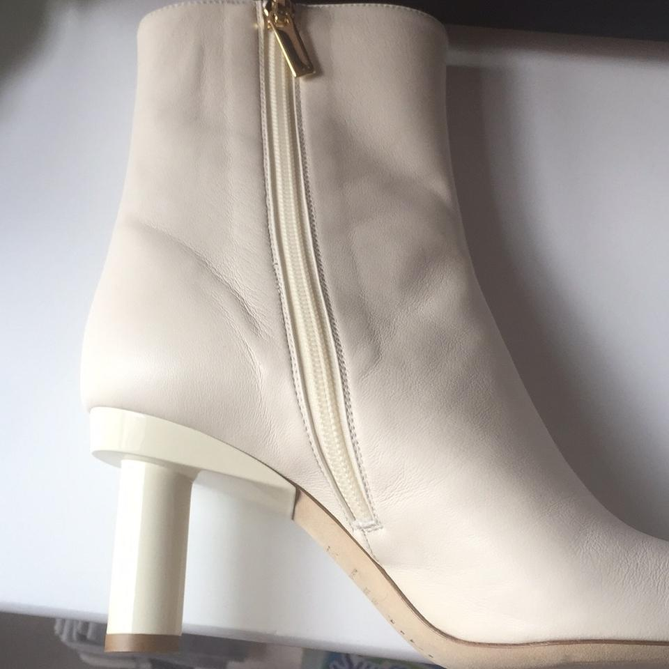 8f88cc63d1159 Vero Cuoio Ivory Leather Boots Booties Size US 6.5 Regular (M