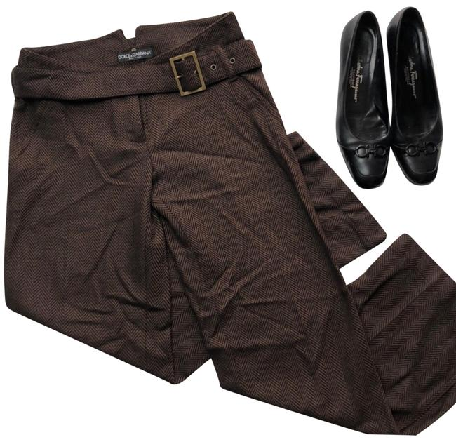 Item - Brown Wool Belted Pants Size 4 (S, 27)