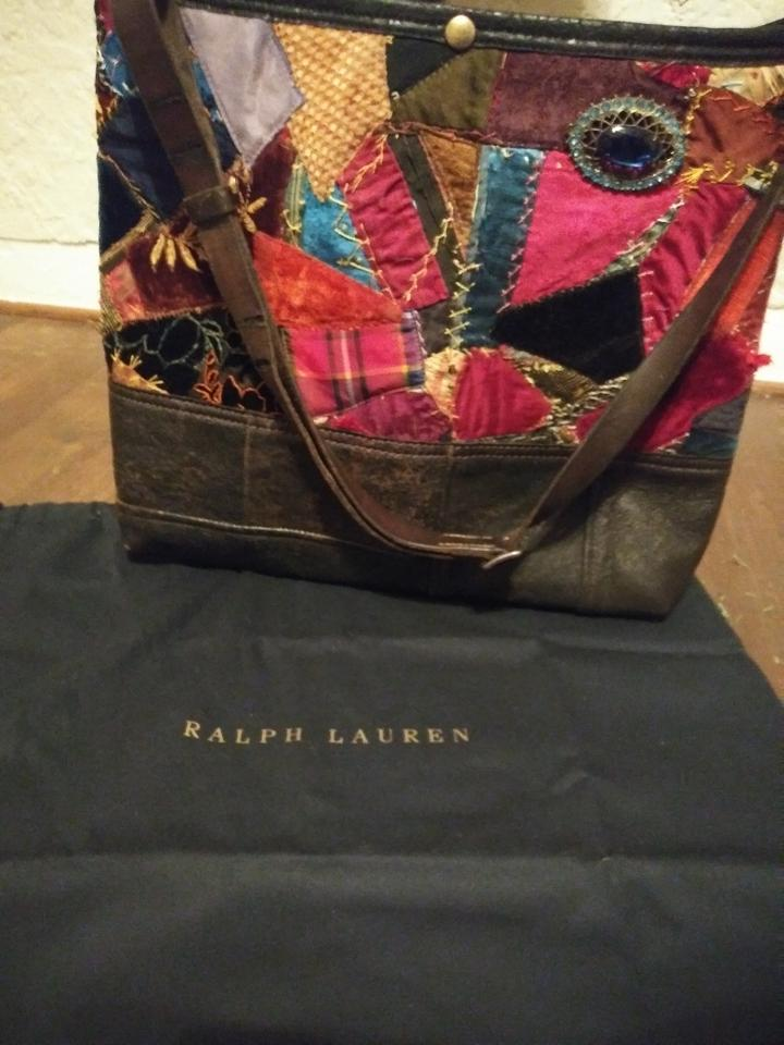Ralph Lauren Collection Purple Label Quilt Patchwork Hobo Multi Color  Leather Velvet Cotton Cross Body Bag - Tradesy 2fd57996f33ff
