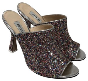 Attico multi color glitter Mules